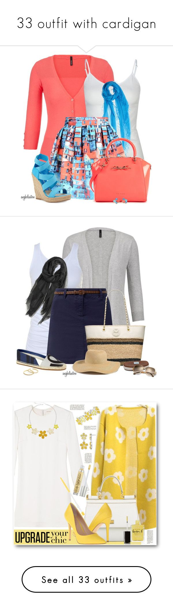 """""""33 outfit with cardigan"""" by outfitideasbook ❤ liked on Polyvore featuring maurices, Full Tilt, Chan Luu, Alice + Olivia, Ted Baker, Jean-Michel Cazabat, Kate Spade, Tusnelda Bloch, Calypso St. Barth and Burberry"""