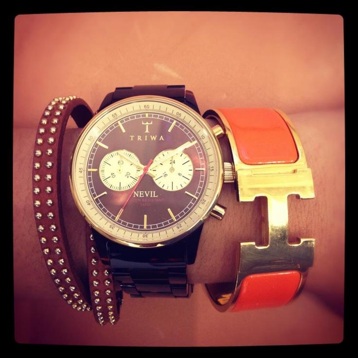 How to wear Triwa - http://www.horloges.nl/triwa-turtle-nevil