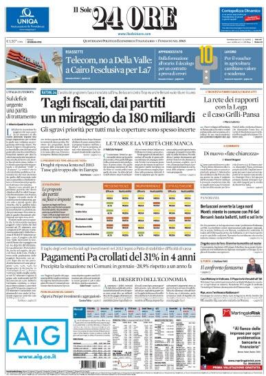 Il Sole 24 Ore (2013/02/19)  Italian | PDF | 46 pagine | 58,5 MB