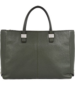 Angelina Grey Green Large Tote Bag - REISS