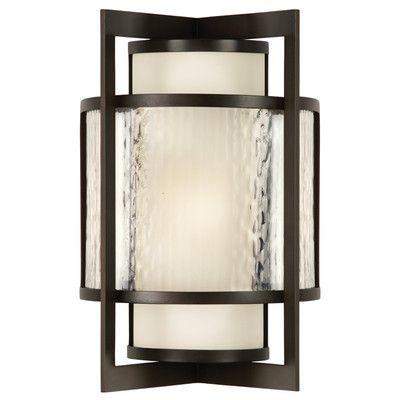 Fine Art Lamps Singapore Moderne 2 Light Outdoor Flush Mount Size: