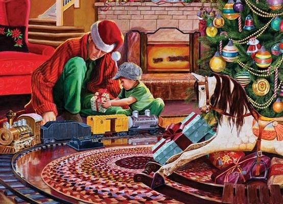 0575ac368ad93fde40b19686ffb3e140  christmas tree train christmas time