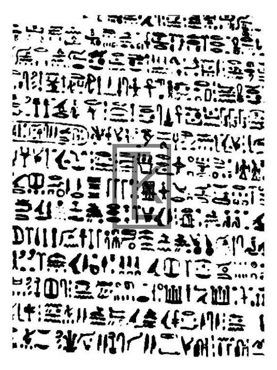 Egyptian Hieroglyphs 32b Silk Screen By Tonjastreasures On Etsy HieroglyphsClay ToolsAncient ArchitectureArchaeologyPolymer