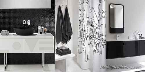 nice Siyah Beyaz Banyo Fayans Modelleri