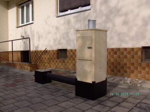 Feuerstelle T/B/H 300 mm mit Luftklappe und Aschenkasten.Rauchrohr 1000 mm lang mit 150 mm...,Räucherofen in Fürth - Fürth