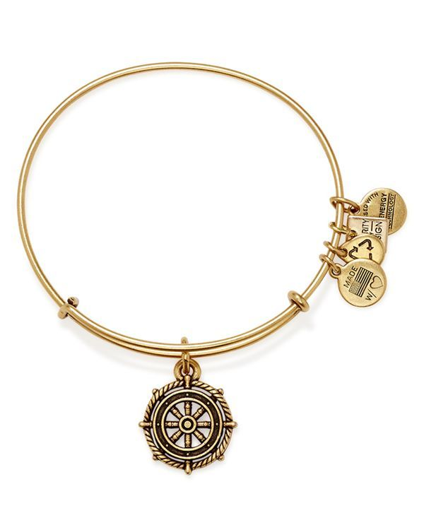 Alex and Ani Take The Wheel Expandable Wire Bracelet