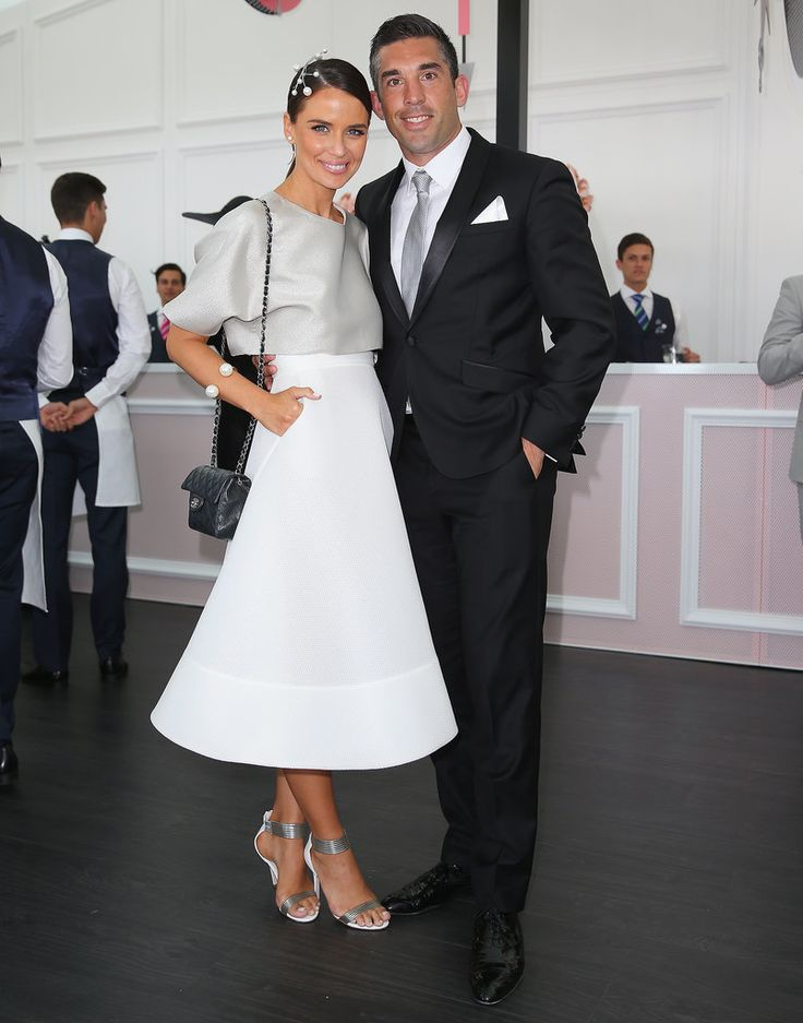 Jodi and Braith Anasta. Jodi wearing @tonimaticevski: Derby Day 2014