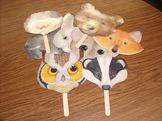 masks to go with The Mitten by Jan Brett
