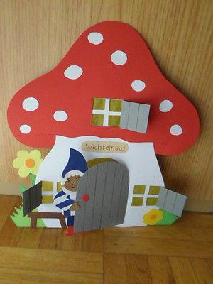 Fensterbild Tonkarton* Kürbiswichtel Titus* Herbst* Deko* Kinder* • EUR 9,50