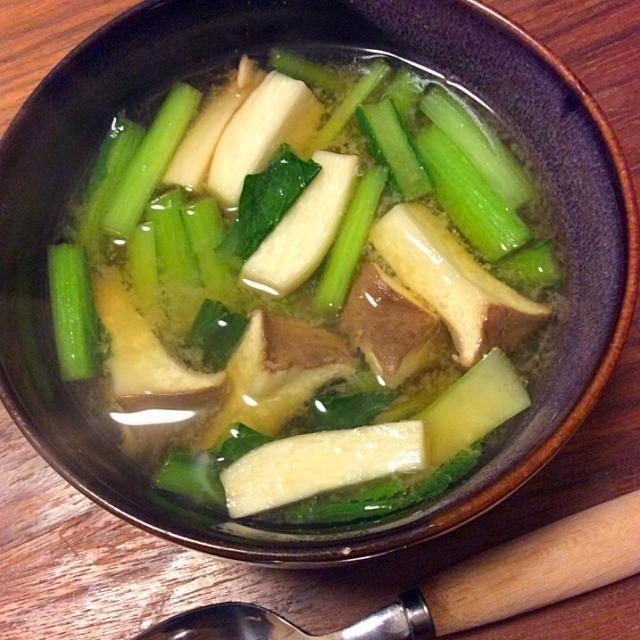今日の夕飯 - 10件のもぐもぐ - エリンギと小松菜のお味噌汁 2014.12.9 by キラ姫