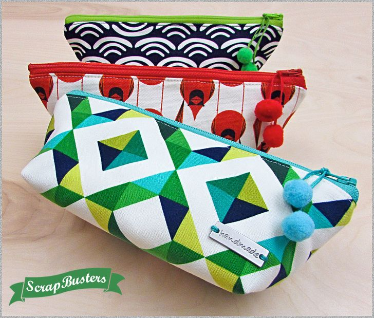ScrapBusters: Triangle Pencil (and more) Pouch | Sew4Home