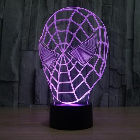 Spiderman 3D Illusion LED Lamp - Design 3