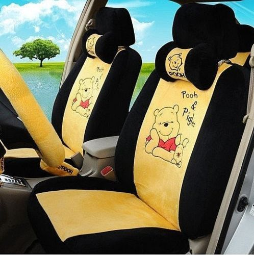 new winnie the pooh car seat covers accessories set 18pcs. Black Bedroom Furniture Sets. Home Design Ideas