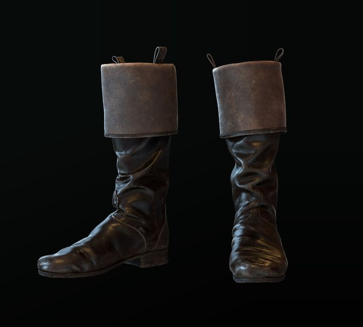 Officer's boots of the 19th century , Anastasia Fileva on ArtStation at https://www.artstation.com/artwork/officer-s-boots-of-the-19th-century