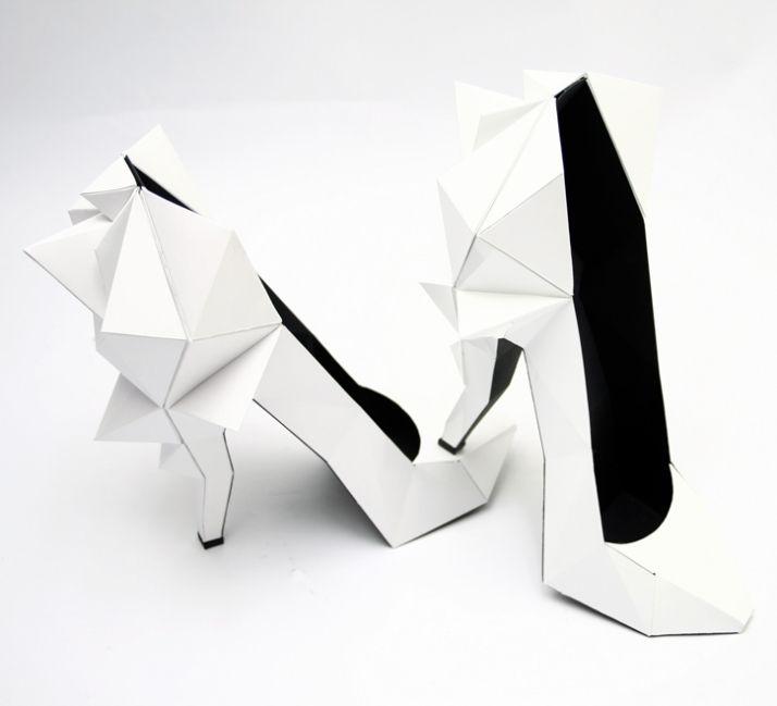 http://collectiftextile.com/creative-sweatshop/ design chaussure papier pliage