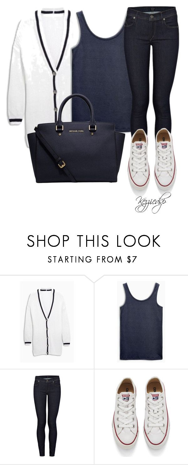 """Next cricket cardigan"" by kezziedsp ❤ liked on Polyvore featuring Citizens of Humanity, Converse, Michael Kors, women's clothing, women, female, woman, misses and juniors"
