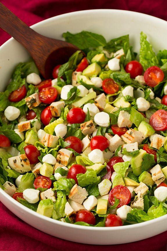 Caprese Chicken and Avocado Chopped Salad