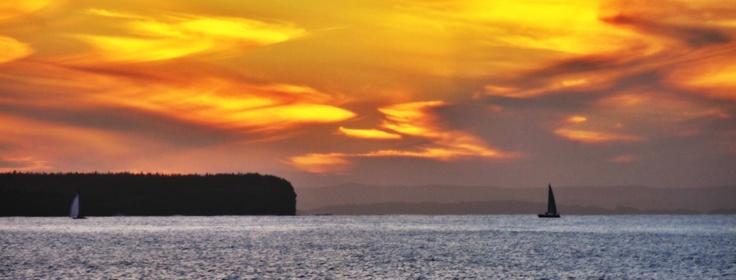 sunset over the Atlantic Ocean taken by Me!