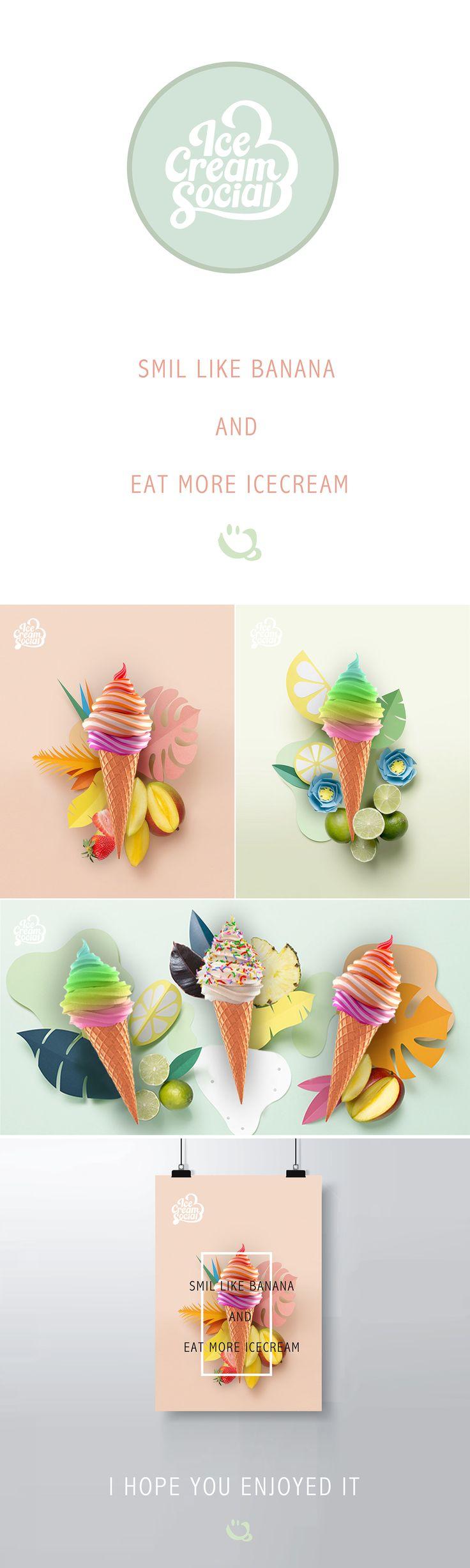 ice cream - poster work on Behance
