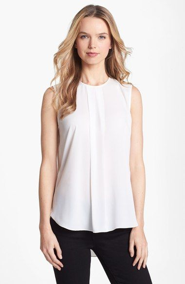 Vince Camuto Center Pleat Sleeveless Blouse (Regular & Petite) available at #Nordstrom
