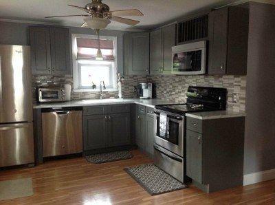 Stone Grey Shaker Kitchen Cabinets
