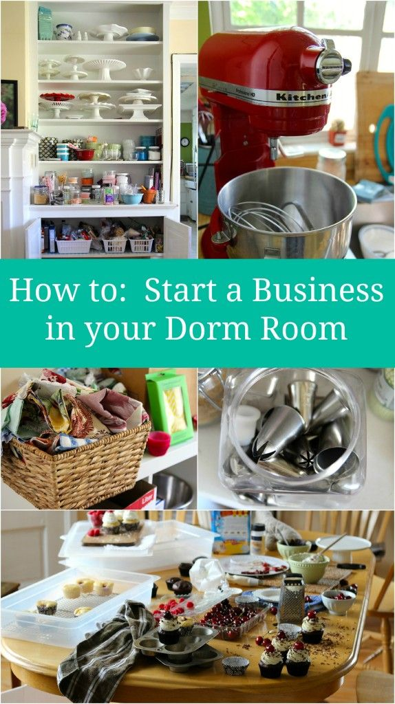 How to start a business in your dorm room. To keep my students in Bakery and Business of simple opportunities upon graduation.