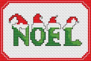 NOEL free cross stitch pattern