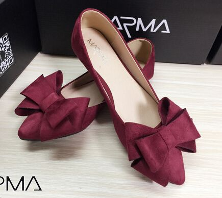 Cheap footwear dropship, Buy Quality footwear italy directly from China footwear women Suppliers:  Size 35-40 5 Colours Bowtie Designer Flat Shoes Point Toe Woman Shoes Autumn Korean Candy Flats Girl Footwears