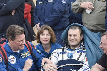 Andreas back on Earth: View 5   European Space Agency ESA astronaut Andreas Mogensen, Soyuz spacecraft commander Gennady Padalka and Kazakh cosmonaut Aidyn Aimbetov landed September 12, 2015 at 00:51 GMT (02:51 CEST) in the steppe of Kazakhstan, marking the end of their missions to the International Space Station. Andreas became Denmark's first astronaut when he left our planet on September 2 on his 10-day iriss mission. The trio undocked from the orbiting complex on September 11 at 21:29…