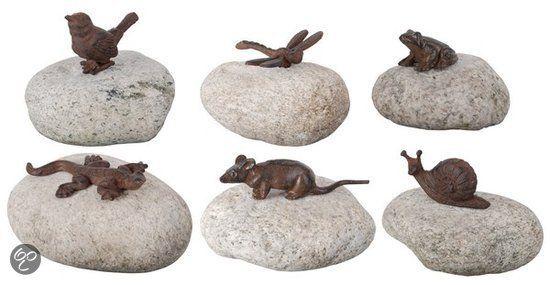 Dieren op steen assorti