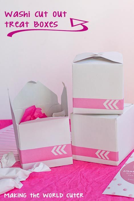 Visiting Teaching Treat Boxes with Washi Tape CutoutsMaking the