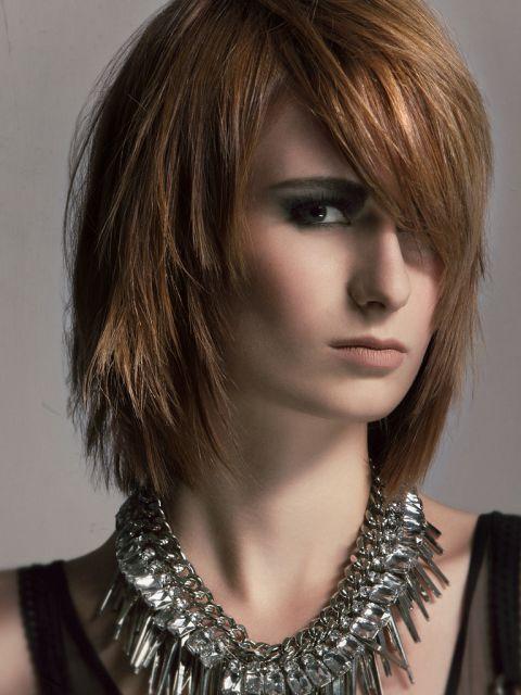 Frisuren Damen Mittellang Fransig | 2021 | Trendfrisuren ...