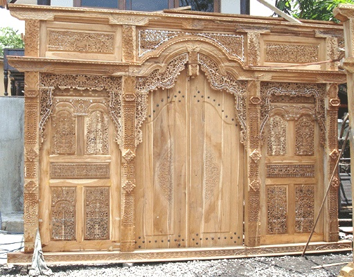 Javanese carved door.