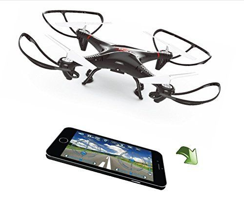 Pre-Built Model Helicopters - Eagle X10 Quadcopter Drone with RealTime FPVPOV Streaming for iPhone  Android Smartphones w 24 GHz RC Controller w Bonus Battery  Extra Blades ** Check this awesome product by going to the link at the image.