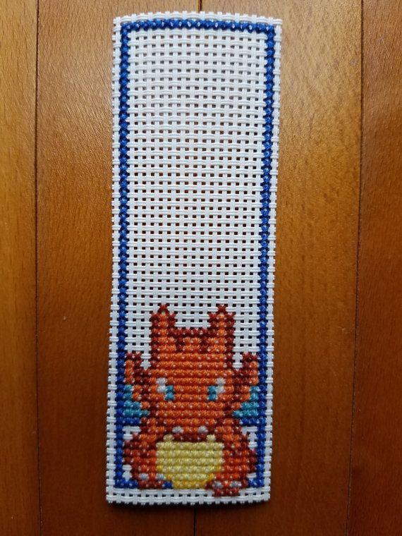 Sale Cross Stitch Bookmarks Pokemon Charmander by PupsnPixels