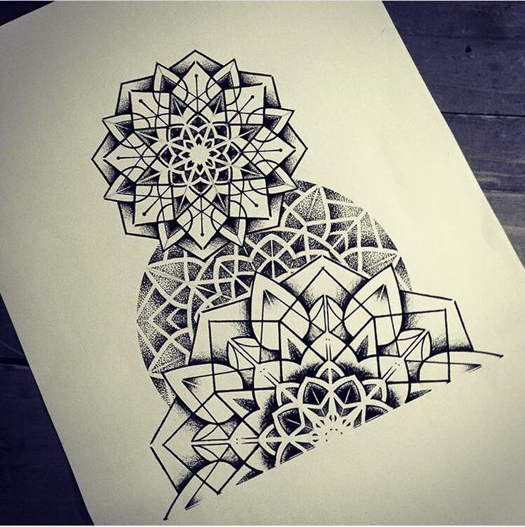 Line Work Design : Drawing by miss sita done at oneonine barcelona mandala