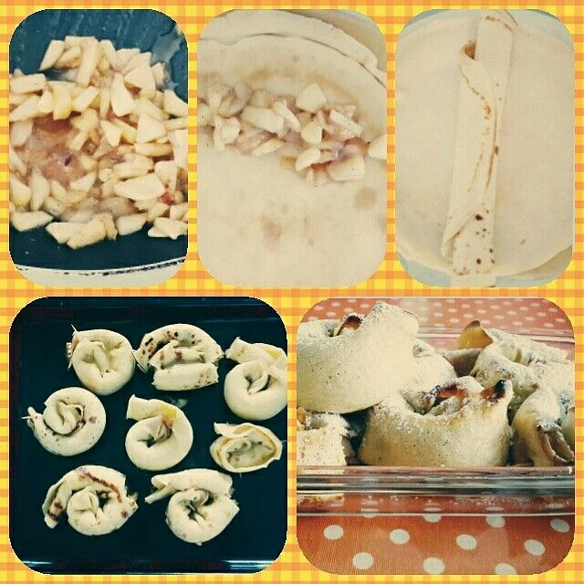 Elmalı krepler