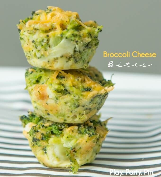 These broccoli cheese bites are the perfect appetizer! Everything you love about a broccoli and cheese casserole baked into one little bite.
