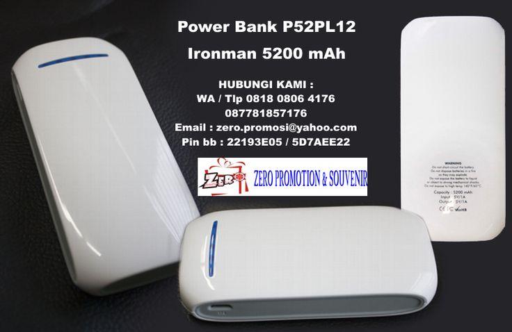 Power Bank P52PL12, Power Bank Ironman 5200 mAh, Powerbank 5.200mAh