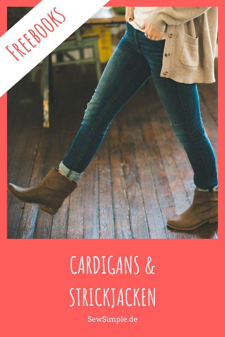 Freebooks: Cardigans und Strickjacken nähen