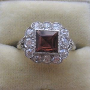 Pink Tourmaline and Diamond engagement ring