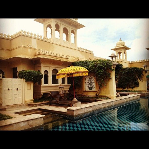 The rooms with semi private pools at The Oberoi Udaivilas, Udaipur, India