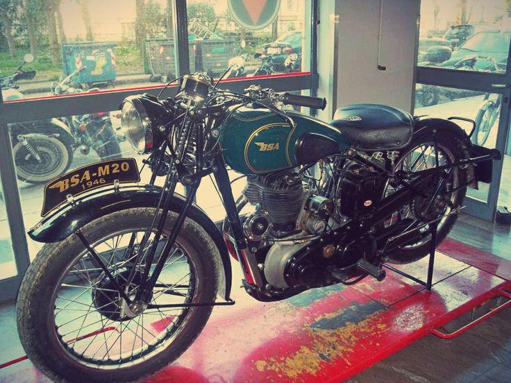 #restored #BSA #m20 1946 https://www.facebook.com/biketherapypatras and http://www.biketherapypatras.gr/