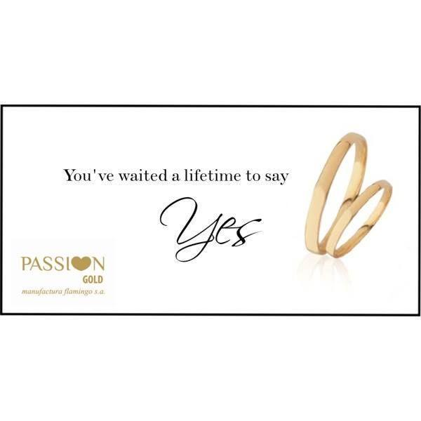 """Disse """"SIM"""" com a Passion Gold?  Alianças de Casamento PASSI♥N GOLD"""