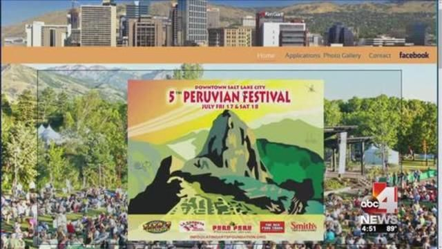 SALT LAKE CITY (ABC 4 Utah) This weekend the 5th annual Utah Peruvian Festival kicks off in downtown Salt Lake. If you like good food and live performances, it's the place to be.