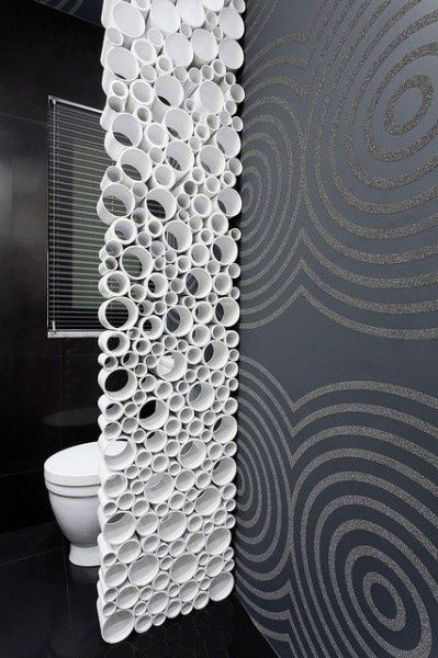Use PVC pipe to create a simple and elegant room divider and add visual interest to a room.