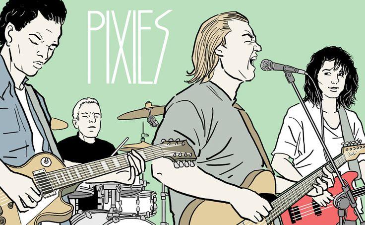 Illustration by Mika Lietzén, Pixies, Personal Work, 2015