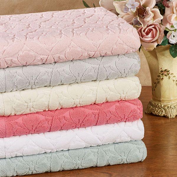 600 Gsm Perugia Sculpted Floral Bath Towel Set With Images