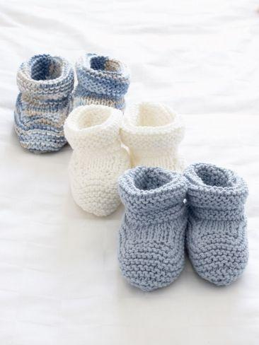 Stay on Baby's Booties Free Knitting Patterns | Crochet Patterns | Yarnspirations