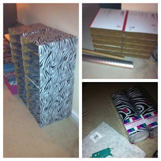 DIY Classroom Mailboxes,     @ Sarah House just get USPS boxes and glue them together and put decorative paper over!